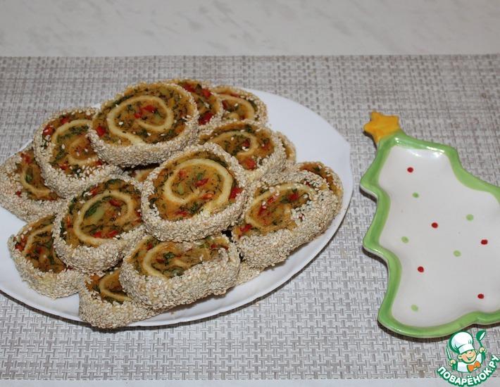 Рецепт: Рулеты с картофелем и болгарским перцем