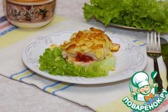 Рецепт: Куриное филе в картофельной шубе