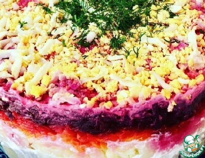 Рецепт: Салат Три пескаря