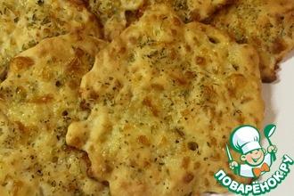 Рецепт: Сырные лепешки за 10 минут