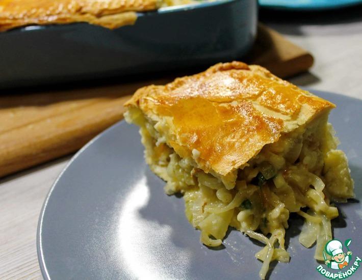 Рецепт: Луковый пирог с плавленым сыром