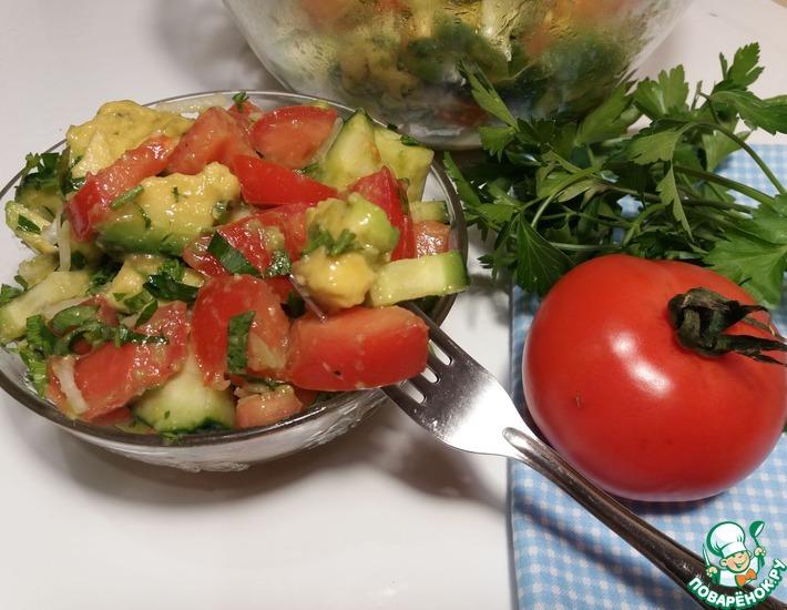 Рецепт: Салат с авокадо за 10 минут