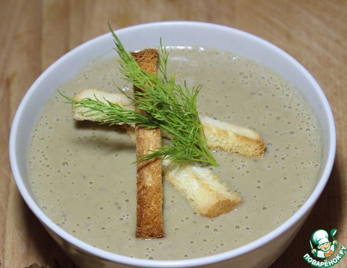Рецепт: Грибной суп-пюре со сливками