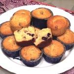 Творожные кексы с сушеной клюквой