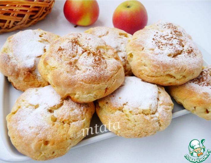 Рецепт: Яблочно-творожные булочки