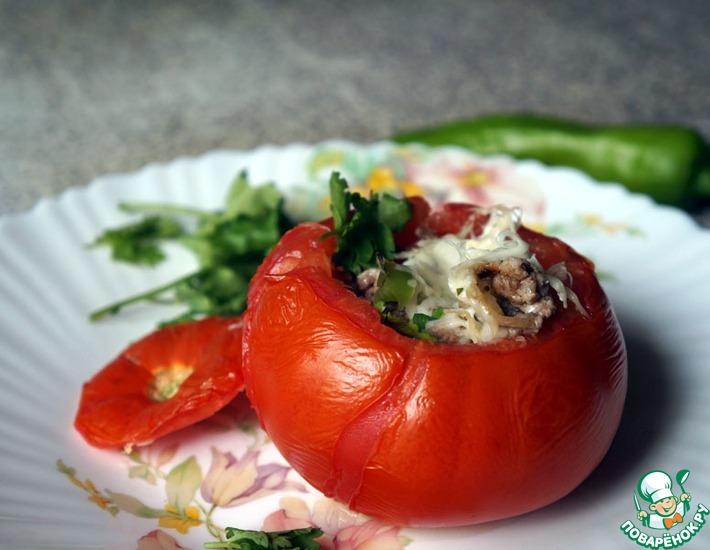 Рецепт: Фаршированные помидоры в духовке