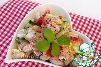 Рецепт: Фасолевый салат