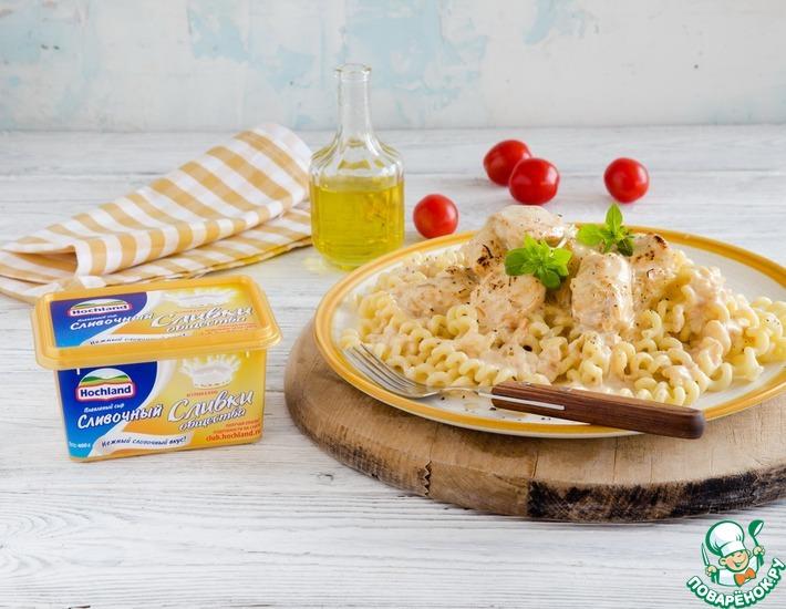 Рецепт: Куриные грудки в сырном соусе