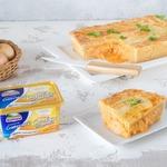 Луково-сырный пирог
