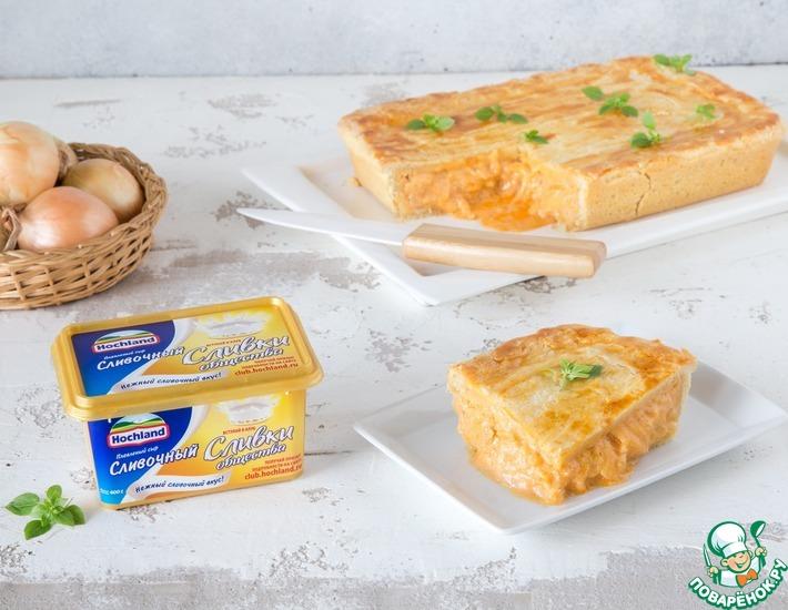 Рецепт: Луково-сырный пирог