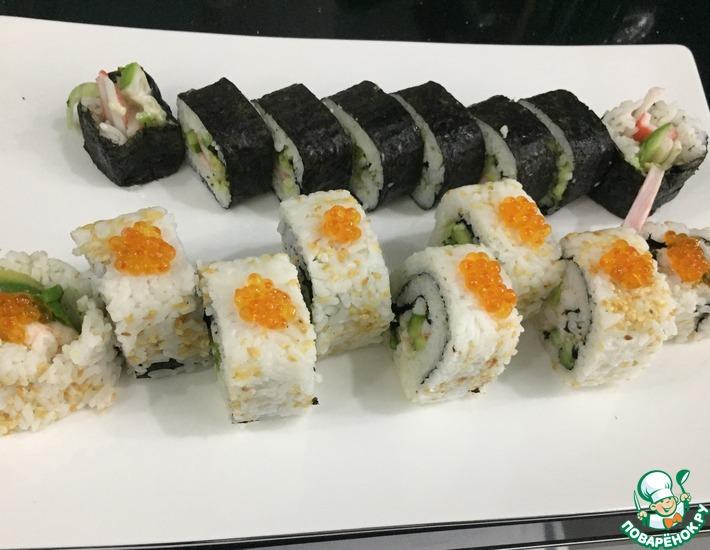 Рецепт: Домашние суши