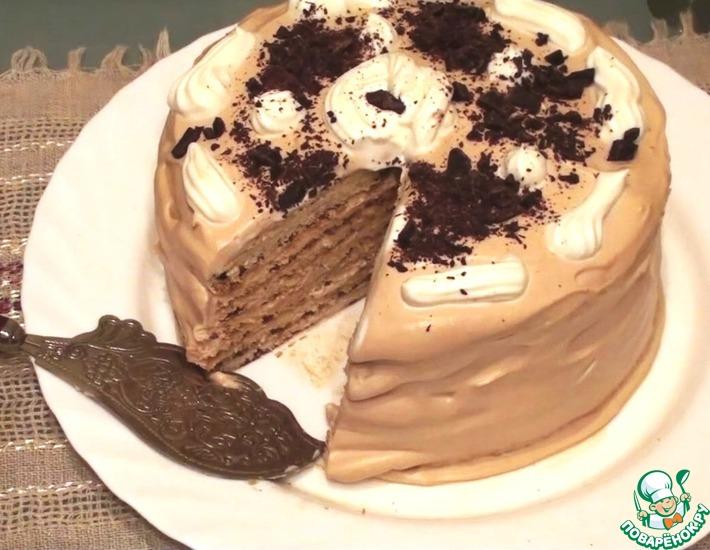 Рецепт: Торт Молочная девочка с кофейным кремом