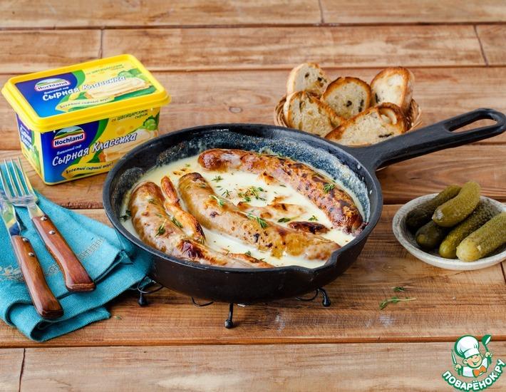Рецепт: Раклет с ветчиной и колбасками
