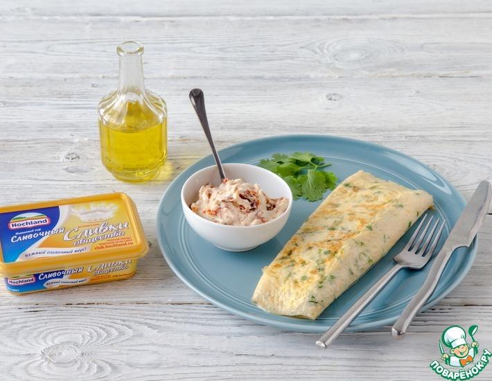 Рецепт: Французский омлет, фаршированный сыром
