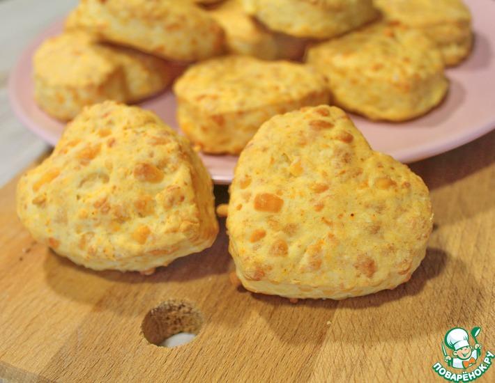 Рецепт: Сырные булочки сконы