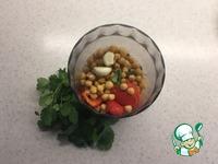 Хумус с запеченным перцем и кинзой ингредиенты