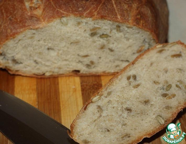 Рецепт: Домашний хлеб с семечками