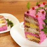 Закусочный торт Сырное наслаждение