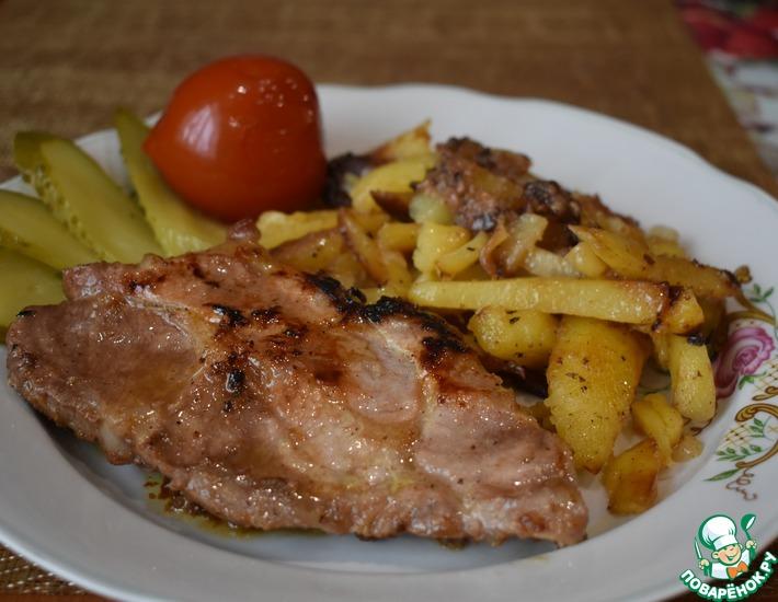 Рецепт: Мясо в сливах