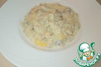 Рецепт: Фрикасе из курицы с грибами