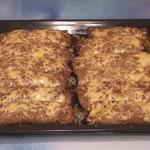 Картофельные драники с мясом и сыром