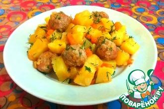 Рецепт: Овощное рагу с фрикадельками