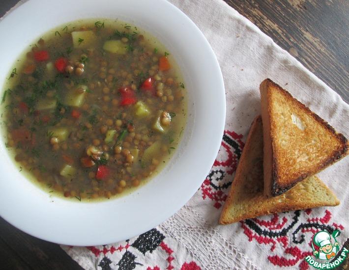 Рецепт: Чечевичный суп в мультиварке