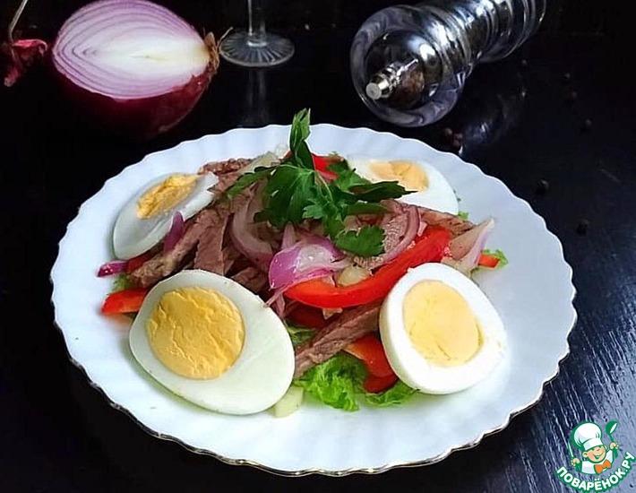 Рецепт: Салат «Брутальный»