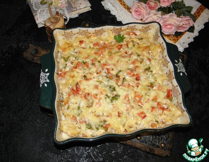Рецепт: Пельмени под сыром Палочка-выручалочка
