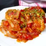 Курица в томатном соусе с луком