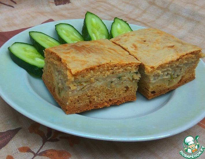 Рецепт: Пирог на кефире с мясом