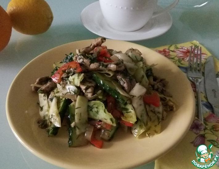 Рецепт: Салат из капусты с мясом