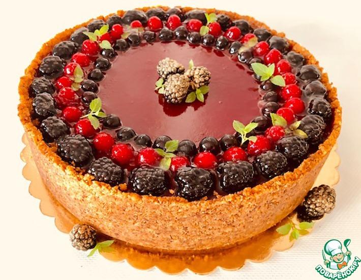 Рецепт: Шоколадный чизкейк с малиновым мармеладом