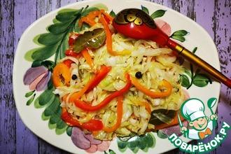 Рецепт: Быстрая маринованная капуста Хорошая закусочка