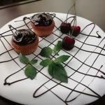 Кексы с вишней и шоколадом
