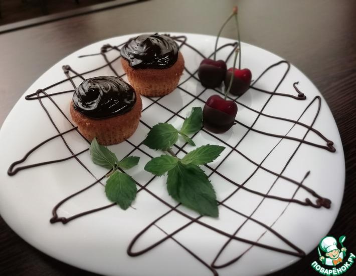 Рецепт: Кексы с вишней и шоколадом