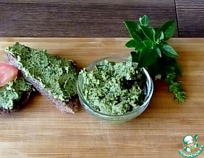 Рецепт: Зелёный соус из базилика на зиму