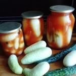 Огурцы по-болгарски с кетчупом чили
