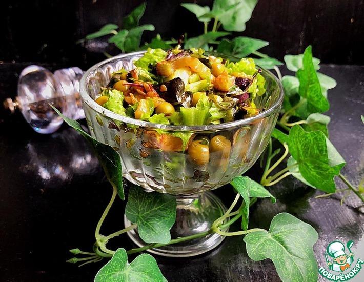 Рецепт: Салат «Фердинанд» с жареным кабачком