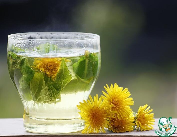 Рецепт: Летний освежающий напиток с хризантемой