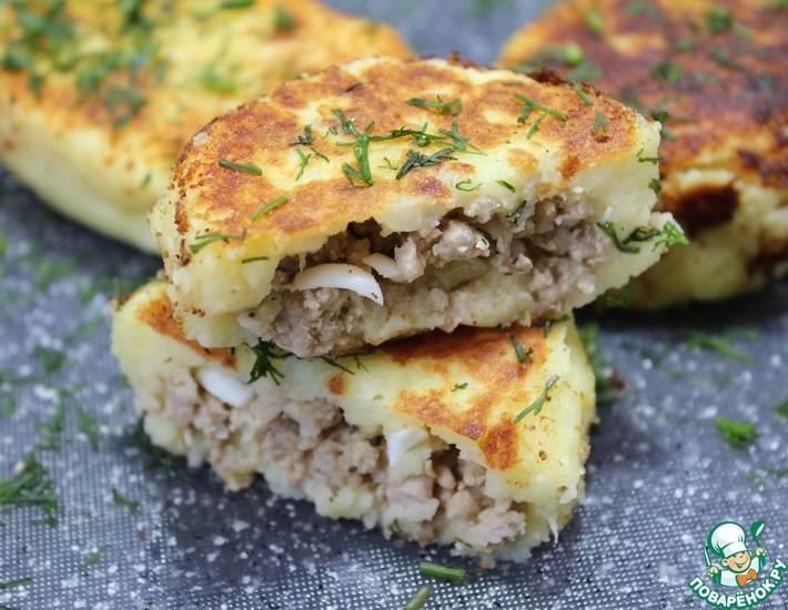 Рецепт: Картофельные зразы с начинкой