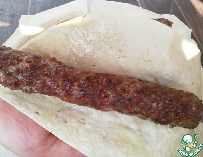 Рецепт: Сочный люля кебаб на мангале