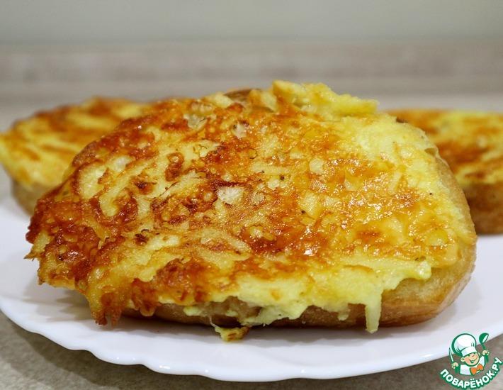 Рецепт: Бутерброды с сыром и картофелем