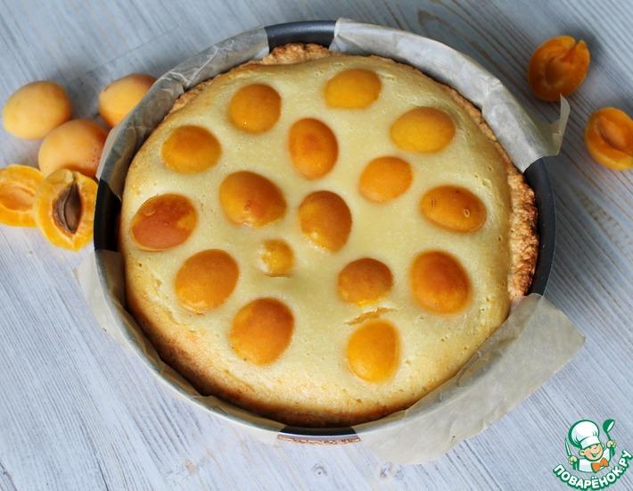 Рецепт: Пирог на песочном тесте с абрикосами