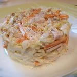 Салат из свинины и капусты
