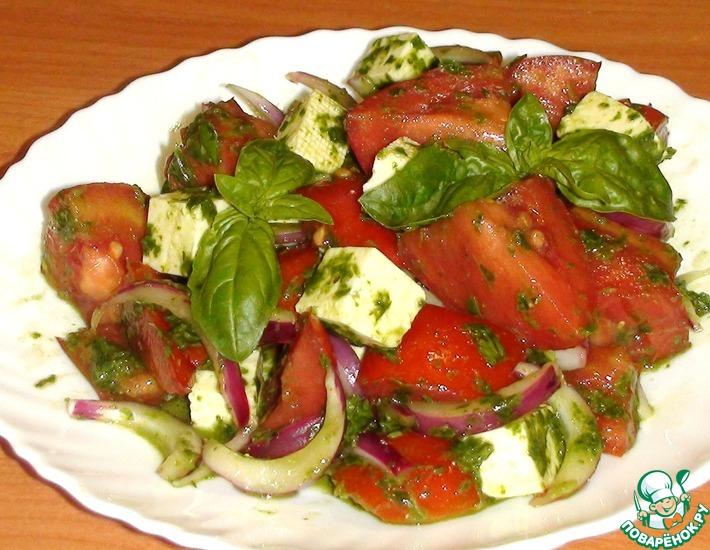Рецепт: Летний салат с базиликом