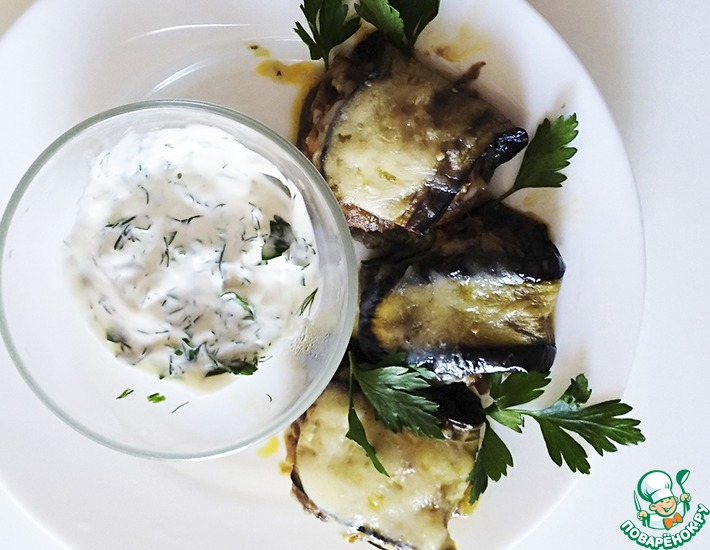 Рецепт: Баклажаны с фаршем и овощами