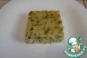 Рецепт: Запеканка из кабачков и картофеля