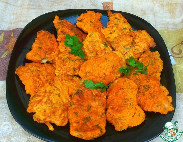 Рецепт: Свиные отбивные в томатно-сырном кляре