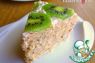 Рецепт: Нежный торт из крекера Рыбки